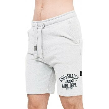 Crosshatch Mens New Designer Loopworth Jogger Casual Shorts Grey