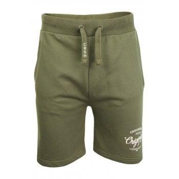 Crosshatch Mens New Designer Lunton Jogger Casual Summer Shorts Dusty Olive