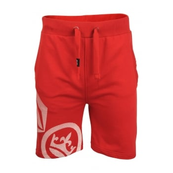 Crosshatch Mens New Designer Ormiston Jogger Casual Shorts Barbados Cherry