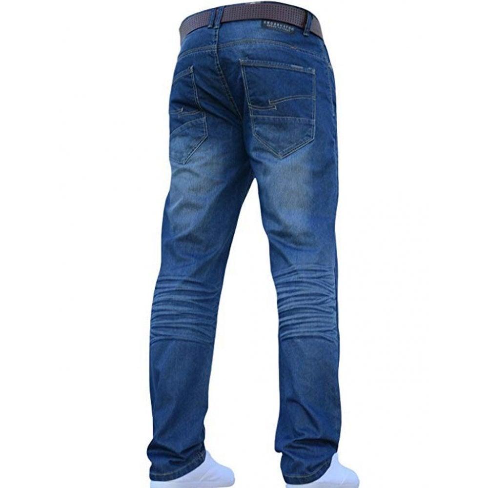 19c0858c639 ... Crosshatch Men s New Fashion Jeans Straight Fit Vintage Faded Mid Denim  Farrow. ‹