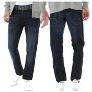 Crosshatch Mens New Wayne Two Slim Fit Jeans Dark Wash