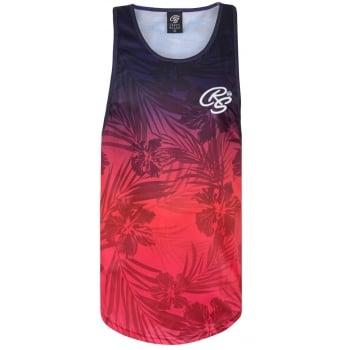 Crosshatch Mens New Weeton Printed Vest Casual Vest Pink