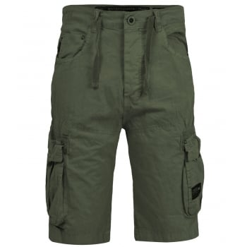 Crosshatch Mens Norbury Designer Cargo Combat Chino Shorts Dusty Olive