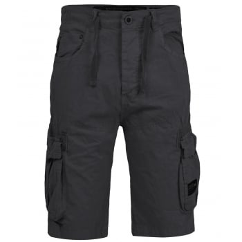 Crosshatch Mens Norbury Designer Cargo Combat Chino Shorts Raven