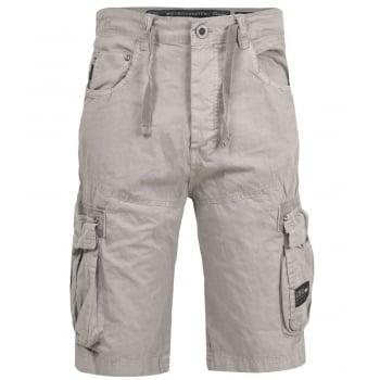 Crosshatch Mens Norbury Designer Cargo Combat Chino Shorts Wet Weather