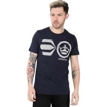 Crosshatch Mens Onsite Casual T-Shirt Night Sky