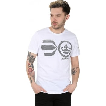 Crosshatch Mens Onsite Casual T-Shirt White