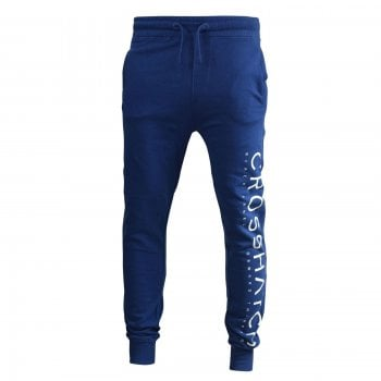 Crosshatch Mens Shacka Track Suit Bottoms Sweat Pant Jogger Bottoms Estate Blue