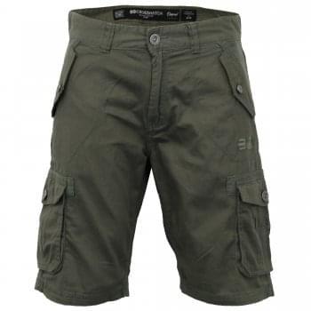 Crosshatch Mens Thorley Designer Cargo Combat Chino Shorts Khaki
