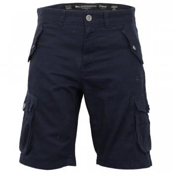 Crosshatch Mens Thorley Designer Cargo Combat Chino Shorts Navy