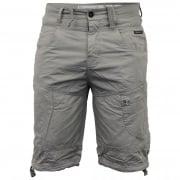 Crosshatch Mens Wynfrey Designer Cargo Combat Chino Shorts Limestone