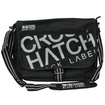 Crosshatch Nabure Messenger Bag Laptop School College Black