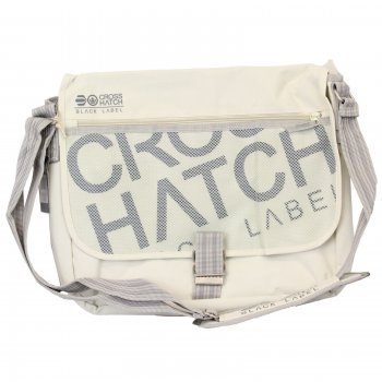 Crosshatch Nabure Messenger Bag Laptop School College Vapour Grey