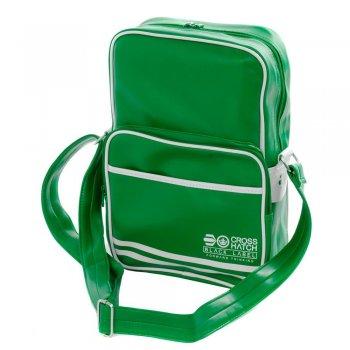 Crosshatch Walbrook PU Crossbody Messenger Travel Bag Green