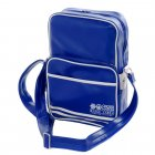 Walbrook PU Crossbody Messenger Travel Bag Royal Blue