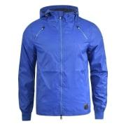 Crosshatch Windbreaker Jacket Lightweight Zip Summer Achernar Hooded Top Mazarine Blue