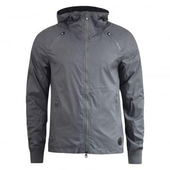 Crosshatch Windbreaker Jacket Lightweight Zip Summer Achernar Hooded Top Quiet Shade