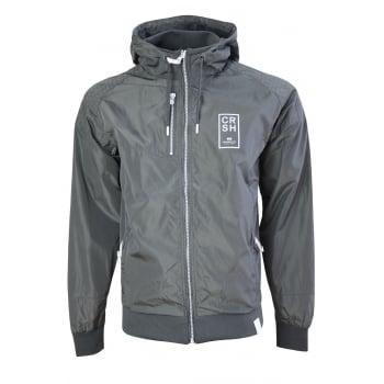 Crosshatch Windbreaker Jacket Lightweight Zip Summer Voisin Hooded Top Magnet