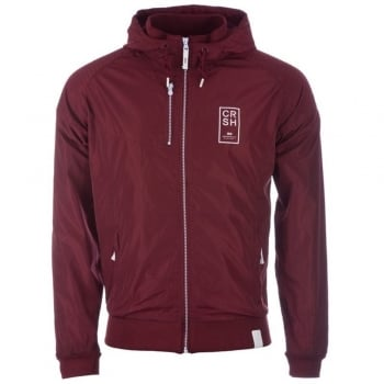 Crosshatch Windbreaker Jacket Lightweight Zip Summer Voisin Hooded Top Syrah