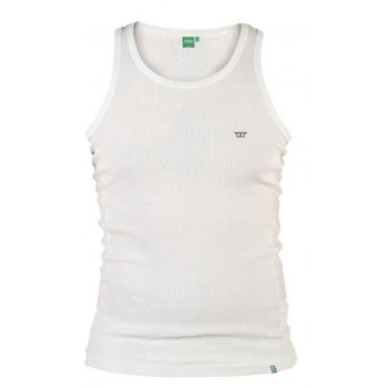 D555 Columbus Mens Ribbed Muscle Vest Gym Top White