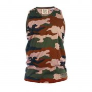 Duke 555 Corps Camouflage Military Muscle Vest Jungle Brown