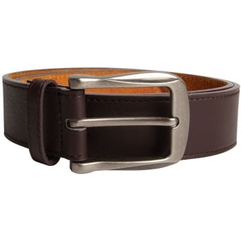 D555 Mens Brown Leather Belt Large Buckle Bonded Leather 3.8cm Width