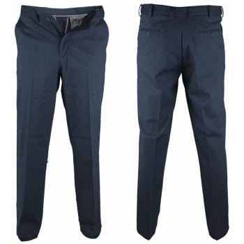 D555 Mens Bruno Stretch Xtenda Waist Chinos Navy