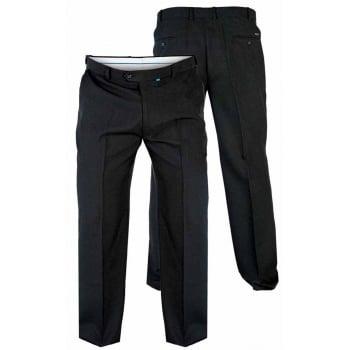 D555 Mens Formal Flexi Waist Trousers (Max) In Black