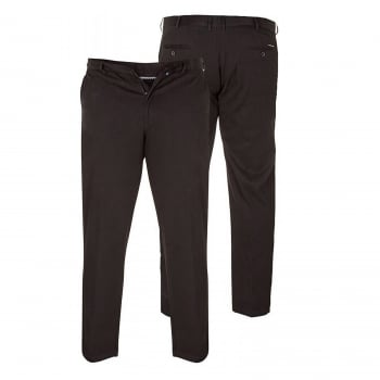 D555 Mens New Bruno Stretch Xtenda Waist Chinos Trousers Black