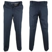 D555 Mens New Bruno Stretch Xtenda Waist Chinos Trousers Navy