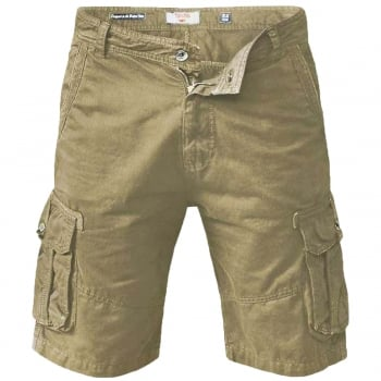 D555 Mens New Greg Designer Cargo Combat Chino Shorts Khaki