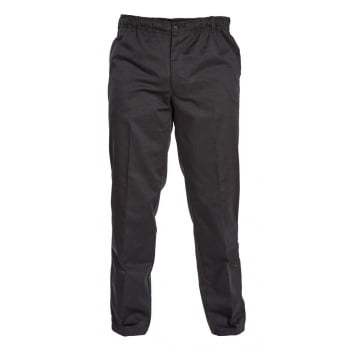 D555 Mens Quality Basilio Rugby Elasticated Waist Leisure Trousers Black