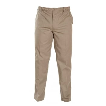 D555 Mens Quality Basilio Rugby Elasticated Waist Leisure Trousers Stone