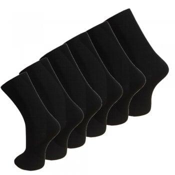 Design Socks 6 Pack Mens Black Cotton Rich Calf Socks Uk Size 6-11 Work Socks Best Quality