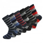 Design Socks 6 Pairs Mens Coloured Design Socks Smart Suit Work Golf Cotton Blend Adults