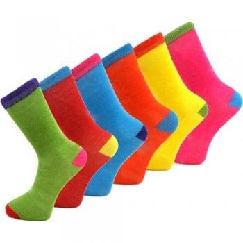 Design Socks 6 Pairs Mens Coloured Design Socks Smart Suit Work Golf Cotton Blend Adults