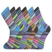 Design Socks Mens Coloured Design Socks Smart Suit Work Golf Cotton Blend Adults 6 Pairs
