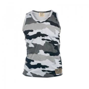 Corps Camouflage Military Muscle Vest Storm Grey