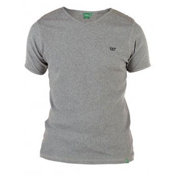D555 Ozark Mens New Ribbed V Neck Top Grey