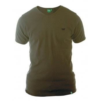 D555 Ozark Mens New Ribbed V Neck Top Khaki