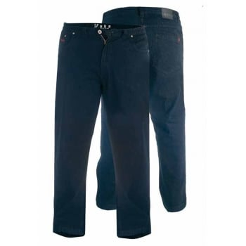 Duke London Mens New Elasticated Waist Denim King Size Jeans Black