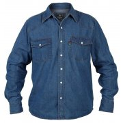Duke Western Authentic Denim Shirt Stonewash Blue