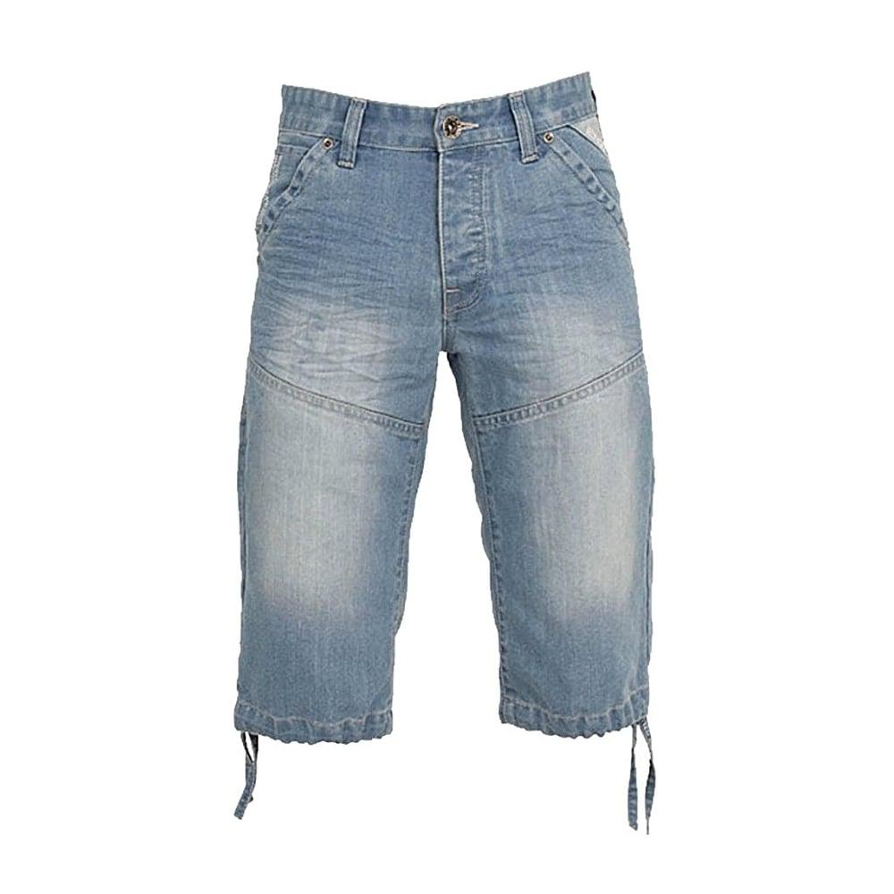 5105d96809 ... Enzo-Jeans Enzo EZS 243 Mens Designer Branded Denim Combat Shorts  Bleach Wash ...