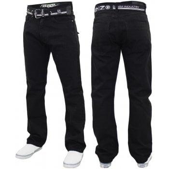 Enzo-Jeans Enzo Mens EZ 324 Designer Denim Jeans Pants Black