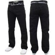 Enzo Mens EZ 324 Designer Denim Jeans Pants Black