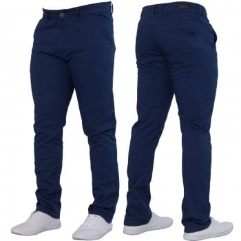 Enzo-Jeans Enzo New Mens EZ348 Slim Fit Stetch Designer Blue Jeans Chinos