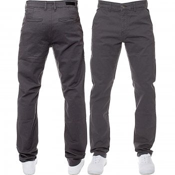 Enzo-Jeans Enzo New Mens EZ348 Slim Fit Stetch Designer Grey Jeans Chinos