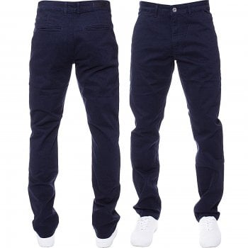 Enzo-Jeans Enzo New Mens EZ348 Slim Fit Stetch Designer Navy Jeans Chinos