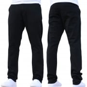 Enzo New Mens EZ348 Slim Fit Stretch Designer Black Jeans Chinos