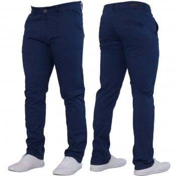 Enzo-Jeans Enzo New Mens EZ348 Slim Fit Stretch Designer Blue Jeans Chinos